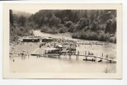 1940s Rppc Postcard Of People On Beach At Rio Nido Russian River Ca