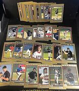 2004 Topps And Topps Traded Lot Of 52 Gold Parallels No Duplicates D /2004