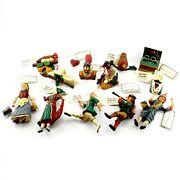House Of Hatten 12 Days Of Christmas Complete 1997 Hand Painted Xmas Ornaments
