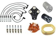 For Mercedes W126 300se 88-91 Tune Up Kit Wire Set Spark Plugs Cap Rotor Filters