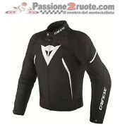 Motorcycle Jacket Dainese Avro D2 Tex Black White Size 46