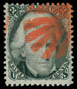 Momen Us Stamps 85b Z Grill Gorgeous Red Leaf Cancel Used Pse Cert