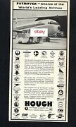 Twa Trans World Airlines 1962 Paymover Hough Tractor 707 Push/pull Ad