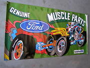 Nice New Ford Muscle Parts Vinyl Banner 4x2' Mustang Fairlane Torino Cobra Gt