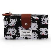 Wallet Soft Woman Betty Boop 13 Slot Cards Coin Purse 7 5/16x3 7/8x1in W