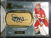 14-15 The Cup Scripted Sticks Doug Gilmour 02/35 Calgary Flames