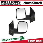 Side View Mirror Manual Black Pair 2 For Chevrolet Express 2500 Express 3500 V8