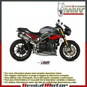 Mivv Approved Exhaust Mufflers Speed Edge For Triumph Speed Triple 2016 2018