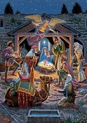 Jigsaw Puzzle Biblical Holy Night A Savior Is Born 500 Piece New With Sparkles