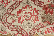 Antique French Valance Corona Indienne Ordinaire 18th Century Textile C1760