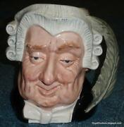 Large Lawyer Royal Doulton Character Toby Jug D6498 Great Collectible Gift