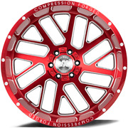 22 Inch 22x12 Axe Ax2.2 Cand Red Milled Wheel Rim 8x170 -44