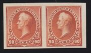 Us 229p5 90c Perry Imperf Pair On Stamp Paper Xf W/ Pf Cert Scv 1450