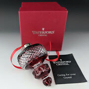 Waterford Crystal 2002 Ball Ornament Ruby Red Cased Spire Is Very Special Mib