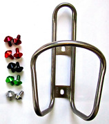 King Titanium Ti Bottle Cage 28g +free Mt Zoom Bolts Standard Or Low Down