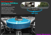 Accele 360 Drgree Dvr Mirror With Ips 4.5 Wide Vga Lcd Screen Rvmdvr360
