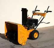 6 Speed Walk Behind 24 Gas Snow Thrower 212cc Electric Start Forward And Reverse