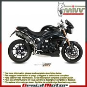 Mivv Approved Exhaust Mufflers Speed Edge Blk High Triumph Speed Triple 2015 15
