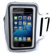 White Sports Workout Arm-band Running Gym Strap Case For Cell Phone Iphone Ipod