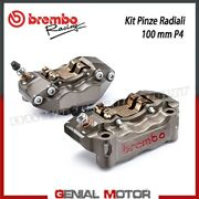 Kit Pair Radial Brake Calipers Brembo Racing Cnc P4 30/34 Sx Dx 100 Mm With Pad