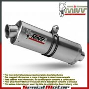 Mivv Approved Exhaust Mufflers Oval Steel High Ducati Monster 600 1994 94