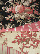 Antique French Fabric Coordinating Scatter Cushion Fabrics Materials  19th C
