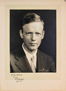 Charles Lindbergh June 1933 Authentic Signed 8x10 Matted Photo Psa/dna Q07605