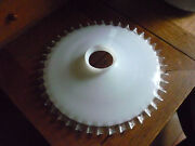 Antique White Opaline And Clear Rim Glass Lamp Lampshade