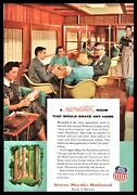 1956 Union Pacific Railroad Redwood Lounge City Of Los Angeles Dome Liner