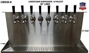 Under Bar Dispenser 8 Faucets Glycol Ready - S. Steel Draft Beer Tower- Ubd30-8g