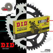 For Bmw F650 Gs Dakar 2001-05 Did 520 Dz2 Gold Chain And Jt Sprocket Kit 16/47t