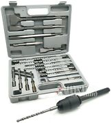 17pc Drill And Chisel Set Sds Plus Drill Bits And Sds-max To Sds-plus Adapter