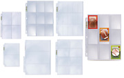 10 Ultra Pro Pocket Album Pages Fits 3 Ring Binders For Cards Gaming Photos
