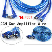 14 Ft Car Rca Jack Audio Speaker Wire Cable Adapters For Car Amplifer