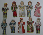 1900and039s E-unc Stollwerckand039s Chocolate Paper Dolls Lot Of 16 Different
