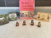 Wee Forest Folk Petersen Wind In The Willows- Rareandnbsp Andnbspfour Characters/book/card
