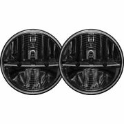 Rigid Industries 7 Round Led Heated Headlights With Pwm Adapter 55004 - Pair