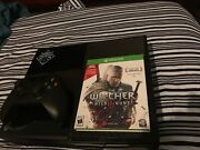 Microsoft Xbox One Day One Edition Black Console + The Witcher 3 The Wild Hunt