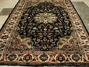 Excellent Hot Brownie Choco Medallion Rug Wool Silk Hand Knotted Carpet 6 X 4and039