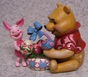 Figurine Disney Winnie The Pooh And Piglet Easter Eggs Jim Shore New With Gift Box