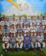 Negro League Hofand039ers And Stars Signed 24x30 Poster 21 Sigs Jsa Authenticated