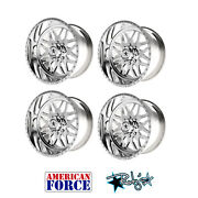 4 20x10 American Force Polished Ss8 Trax Wheels For Chevy Gmc Ford Dodge
