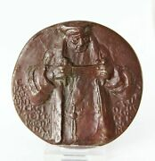 Bronze Art Medal The Ad Fontes Medal Erasmus University Rotterdam By Eric Claus