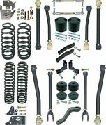 Currie Johnny Joint 4 Lift Suspension Kit,arms,coil Springs,fits Jeep Jk 4 Door