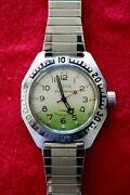 Bostok Combat Diver Soviet Cccp Ussr Cold War Booty Military Elapsed Time Watch