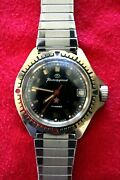 Bostok Red Army Off. Soviet Cccp Ussr Cold War Booty Military Elapsed Time Watch