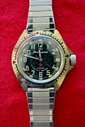 Bostok Military Off. Soviet Cccp Ussr Cold War Booty Military Elapsed Time Watch
