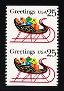 Us 2429a 25c Christmas Sleigh Imperforated Horizontal Efo Mint Xf Og Nh
