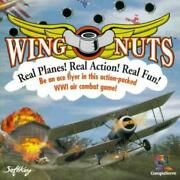 Wing Nuts Pc Cd Pilot World War I Wwi Bi-wing Plane Air Shooter Ace Baron Game