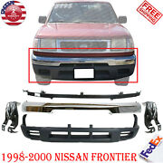 Front Bumper Chrome Valance Mounting Bracket For 1998-2000 Nissan Frontier 5pcs